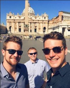 Trio in Vatican City